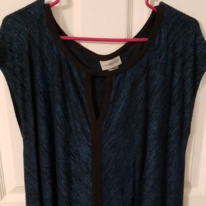 Catherine's blue and black sleeveless top